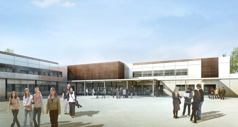Collège st_germain – Perspective intérieure